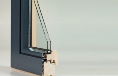 Holz-Alufenster mit 2-fach Glas